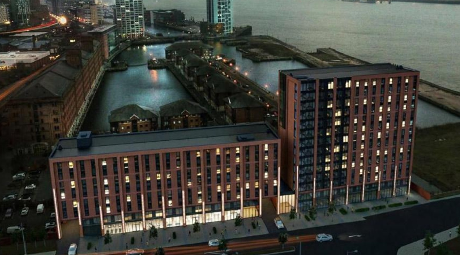 Edificio residencial en Central Docks, Liverpool.