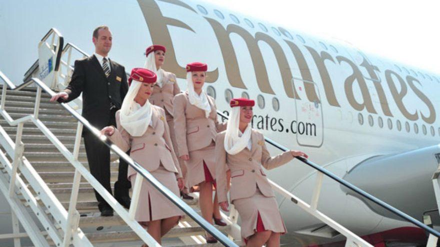 Tripulación De Emirates, Una Línea Aérea De Alcance Global.