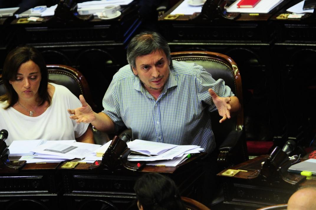 Máximo Kirchner, en uno de los debates en Diputados.
