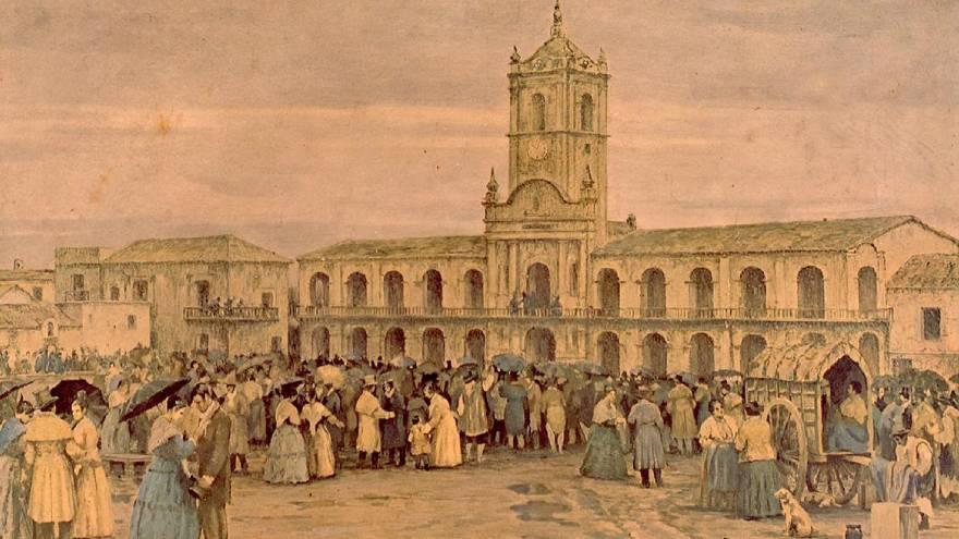 25 de mayo de 1810: afuera del Cabildo Abierto el pueblo pedía la Independencia