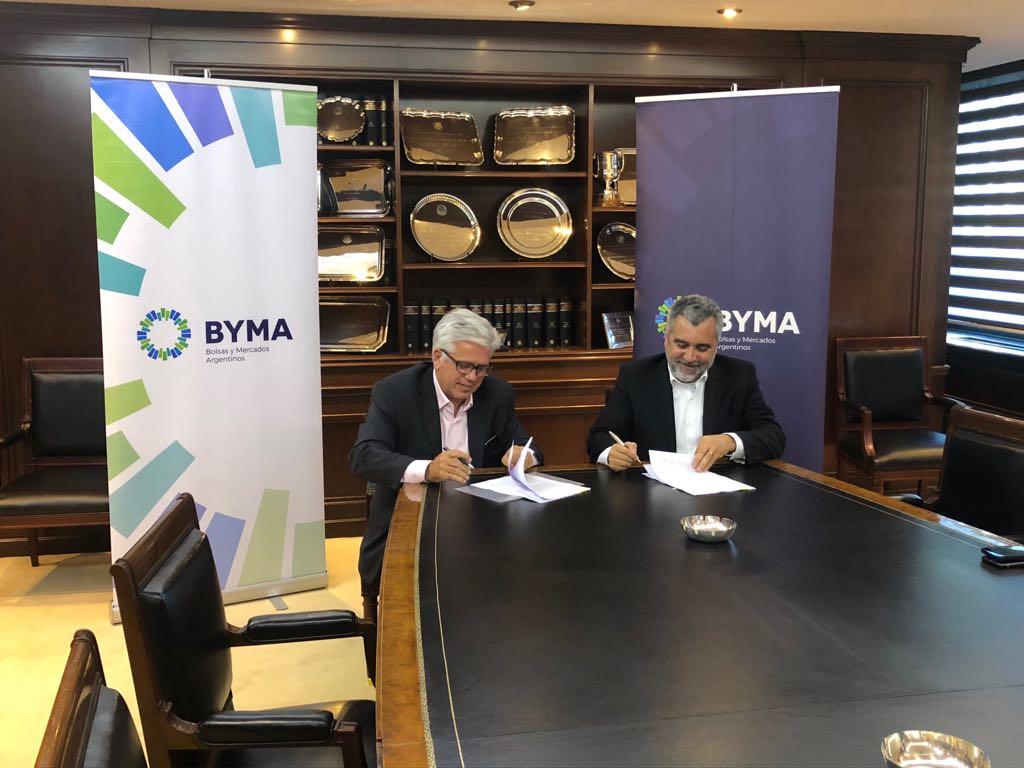 Ernesto Allaria firmó en 2018 el acuerdo con B3, representada por su director de Desarrollo de Mercados para América Latina, Roberto Belchior