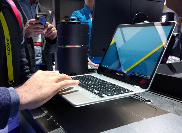La computadora Chrmebook se destaca por su delgadez.