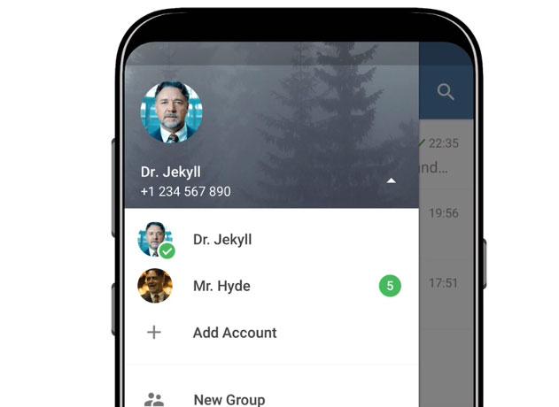 Telegram tiene funciones similares a WhatsApp.