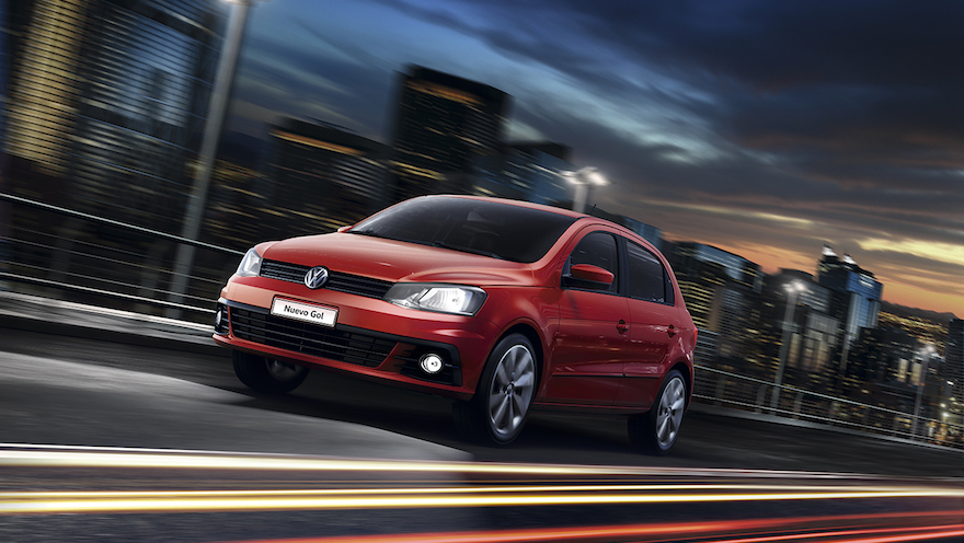 Volkswagen Gol, un clásico entre los más baratos.