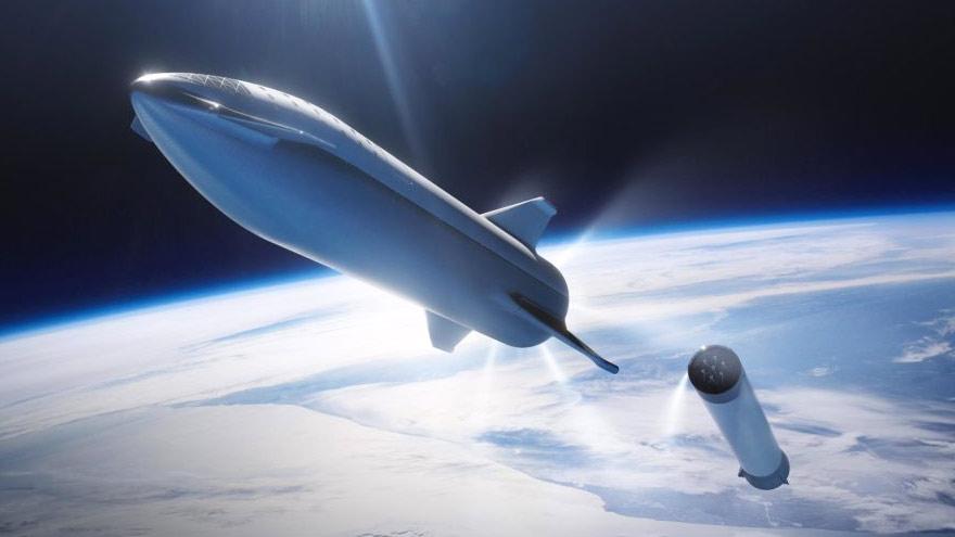 La nave espacial que realizará los viajes a Marte.