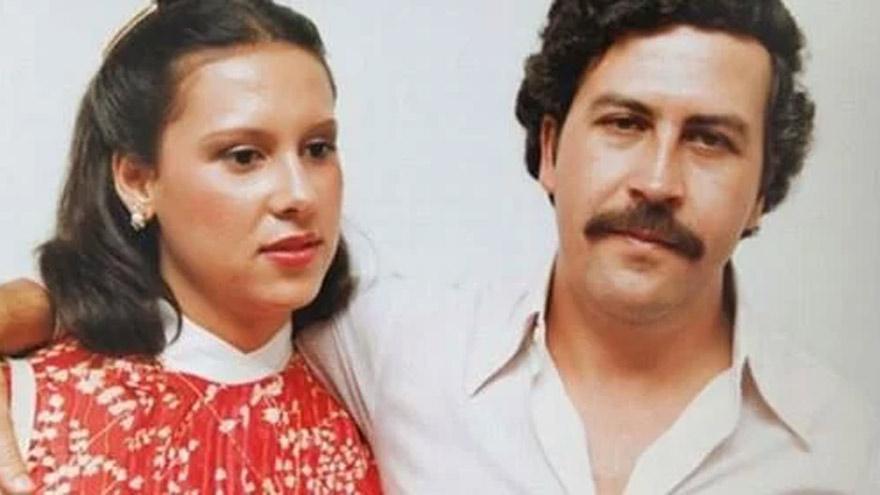 Pablo Escobar y su mujer