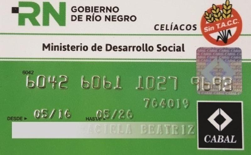 Tarjeta de débito para celíacos