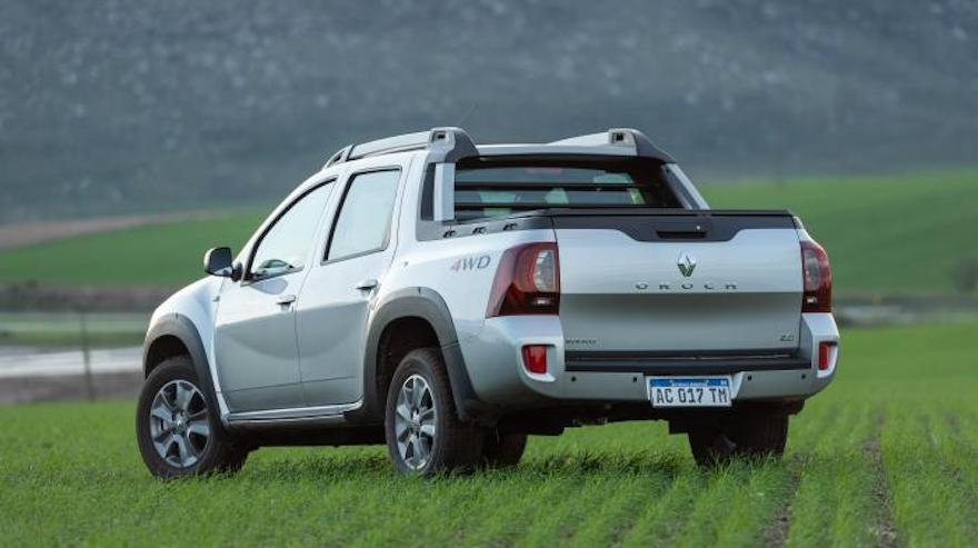 Renault Duster Oroch, con gran capacidad de carga.