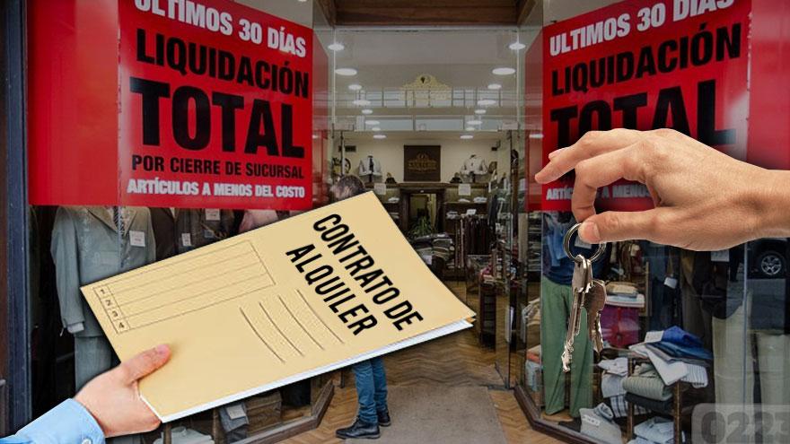 La recesión llevó a que incluso los negocios que pudieron reabrir piden rescindir alquileres