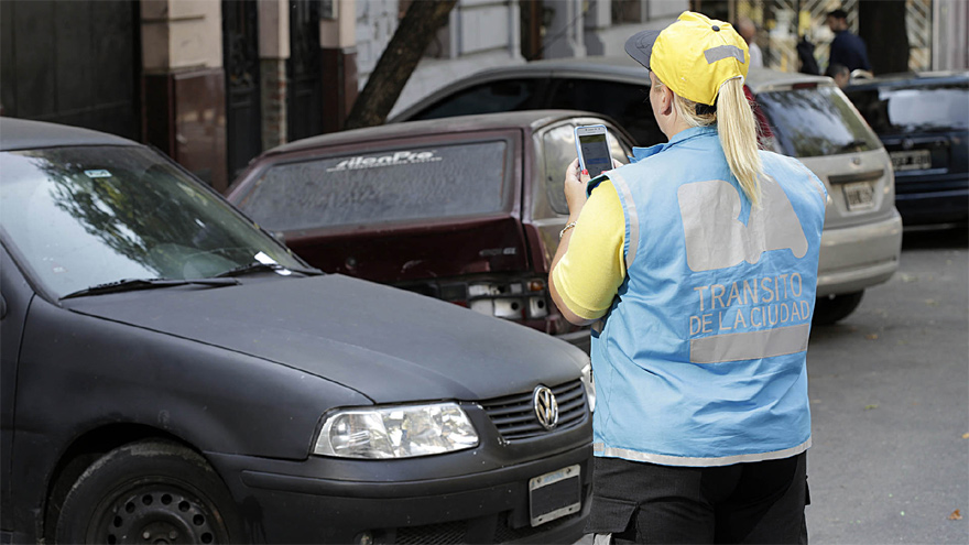 Las multas en la Ciudad, un clásico de todos los días.