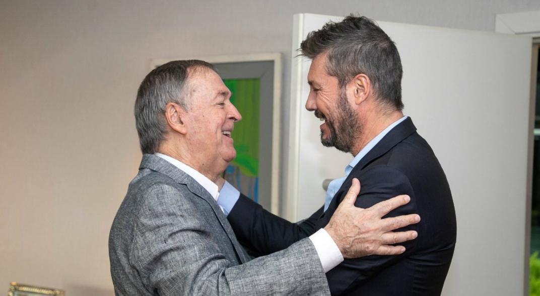 Tinelli y Juan Schiaretti en épocas de Alternativa Federal.