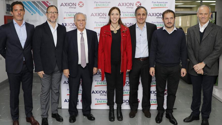 Agustín Agraz, Fabián Perechodnik, Alejandro Bulgheroni, María Eugenia Vidal, Marcos Bulgheroni, Sebastián Abella y Adrián Suárez.
