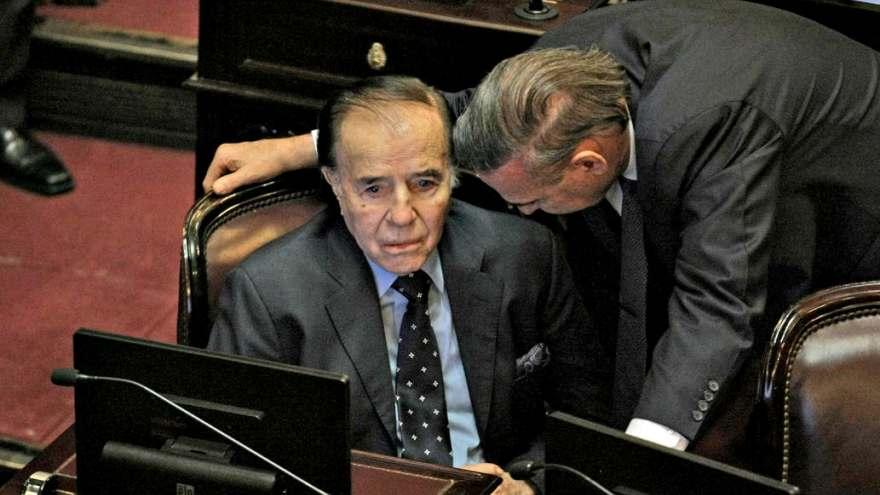 Pichetto con Carlos Sapul Menem en el Senado