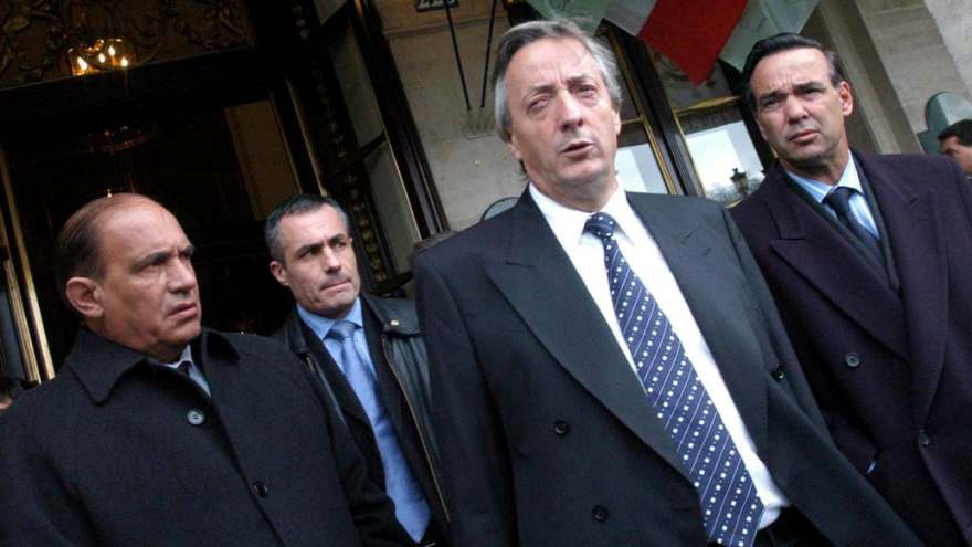 Nestor Kirchner y Miguel Pichetto el 20 de enero de 2005