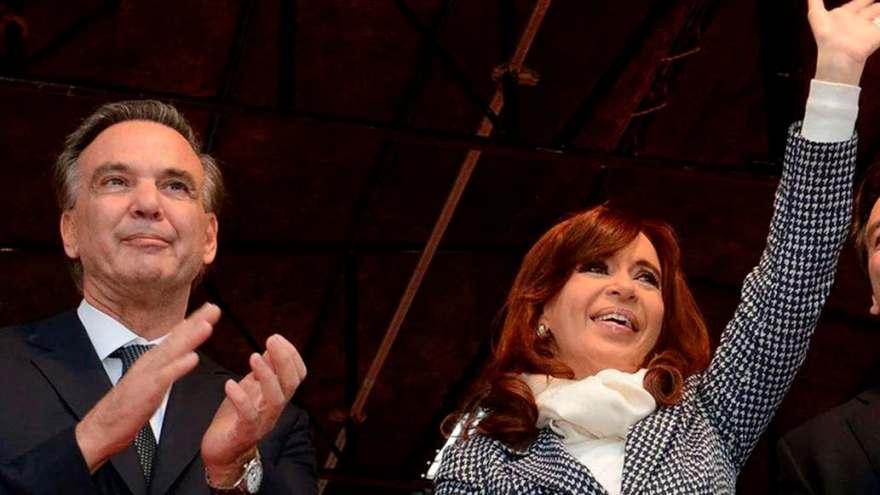 Miguel Pichetto junto a Cristina Kirchner en un acto oficial