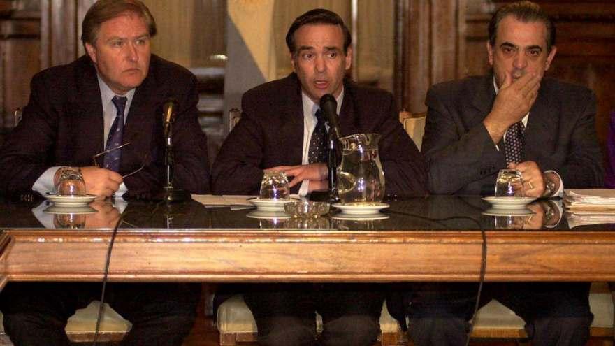 Pichetto junto a Miguel Ángel Toma y Eduardo Camaño