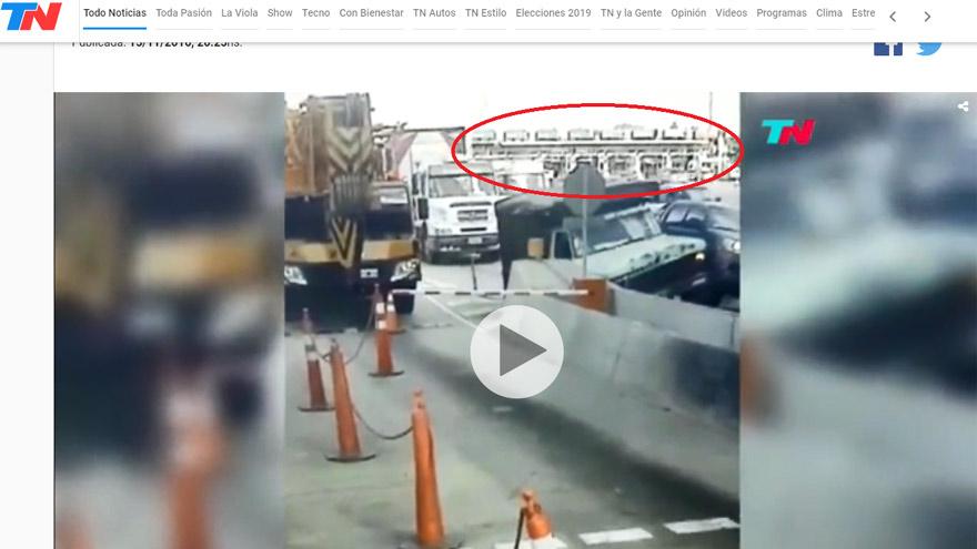 Captura de pantalla del video publicado en 2016, realizada el 11 de junio de 2019.