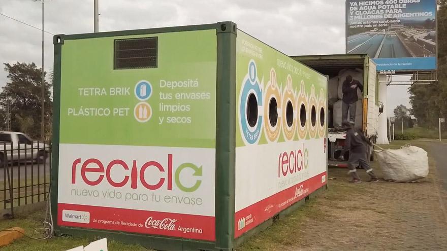 Un Punto de Reciclo en la localidad de Benavídez.