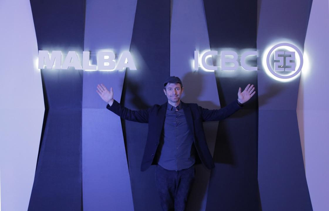 Leandro Erlich, en la inauguración de la muestra
