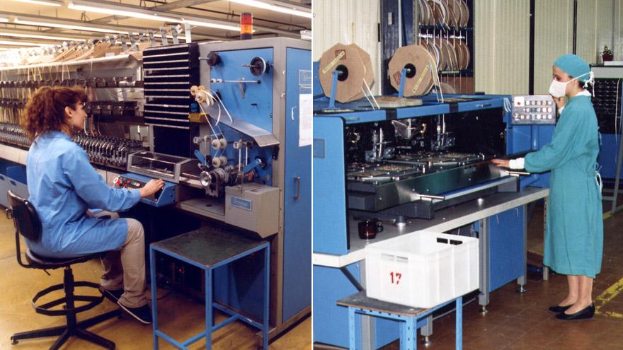 Máquinas de inserción automática en 2007.