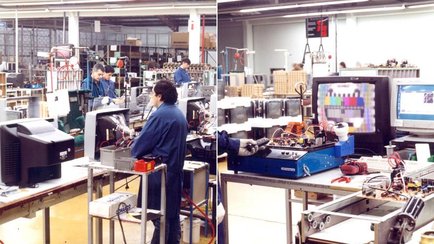 Fabricación de TVs de tubo en 2005.