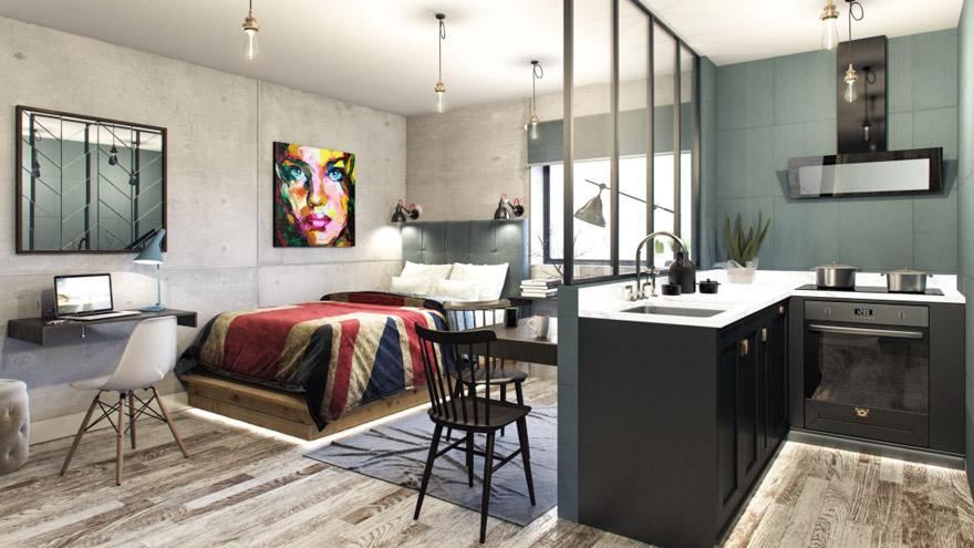 Moderno apartamento universitario en el complejo Aura.