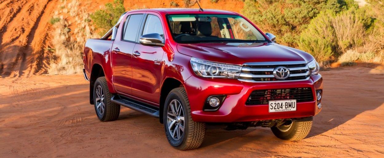 Toyota Hilux, otro de los usados más vendidos. Esta imagen en su versión anterior.