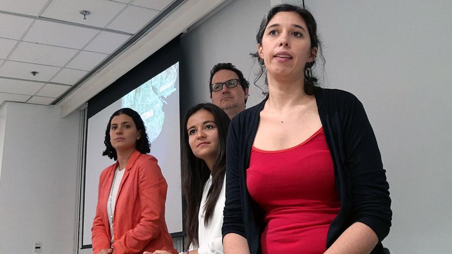De izquierda a derecha: Yamila Zakhem; Alexandra Trujillo, Jorge Cella y Ana Liberoff.