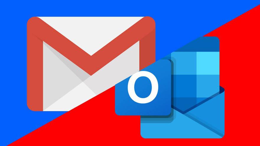 Los problemas también afectan a Gmail cuandose lo vincula con Outlook.