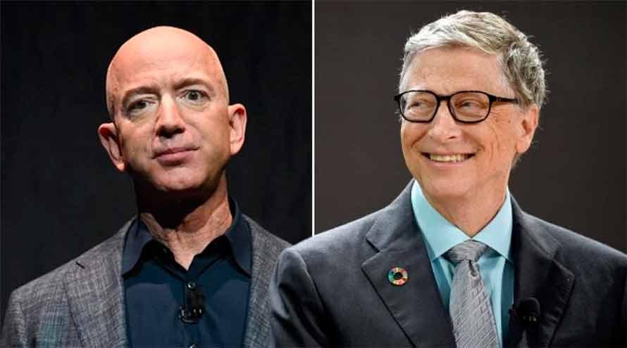 Jeff Bezos y Bill Gates son ambos centimillonarios, ya que su fortuna personal supera los 100 mil millones de dólares