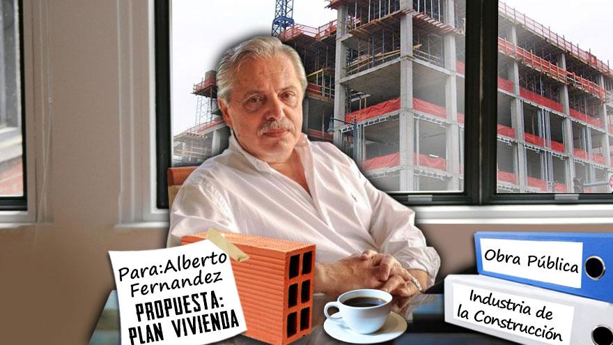 Alberto Fernández recibió propuestas de las empresas para reactivar la construcción