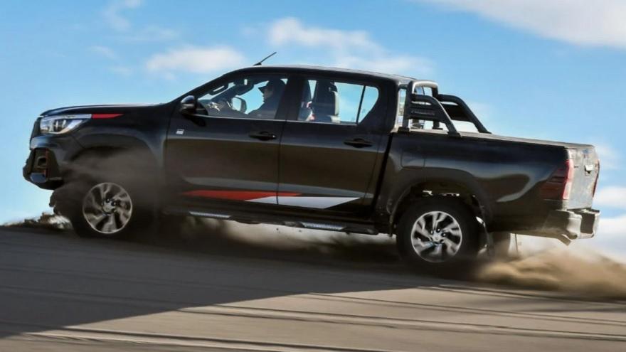 Toyota Hilux, la más vendida del país.