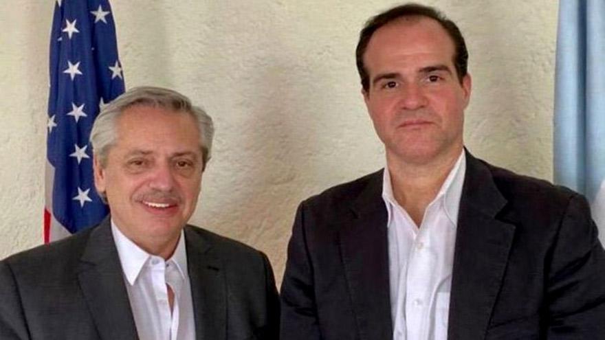Alberto Fernández con Mauricio Claver Carone, nuevo titular del BID