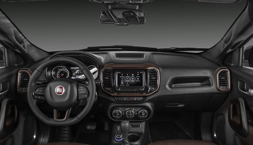 Fiat Toro, con mucha tecnología interior.