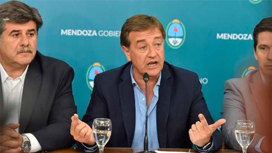Rodolfo Suárez, gobernador de Mendoza.