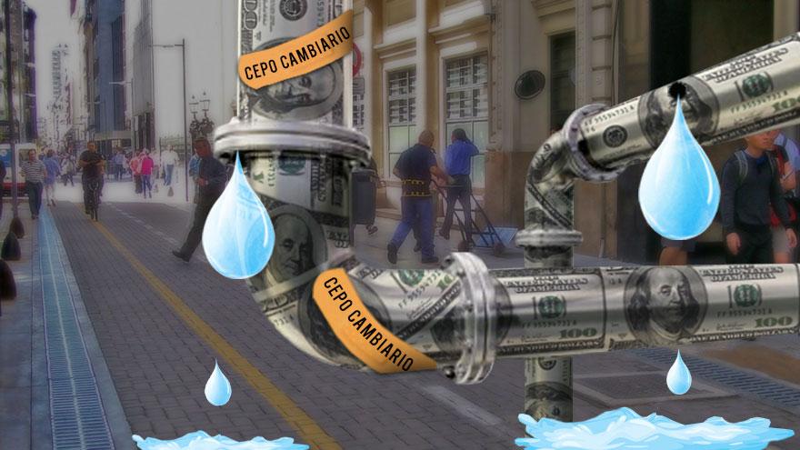 El goteo de depósitos en dólares hace que las reservas siguen cayendo