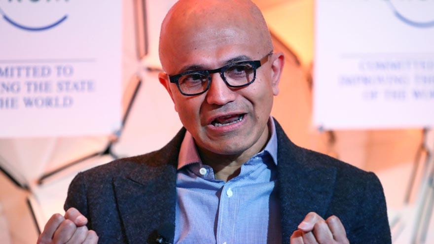El CEO de Microsoft, Satya Nadella, destacó los buenos resultados de la compañía.