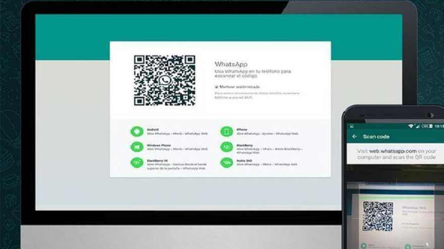 El código QR es clave para WhatsApp web.