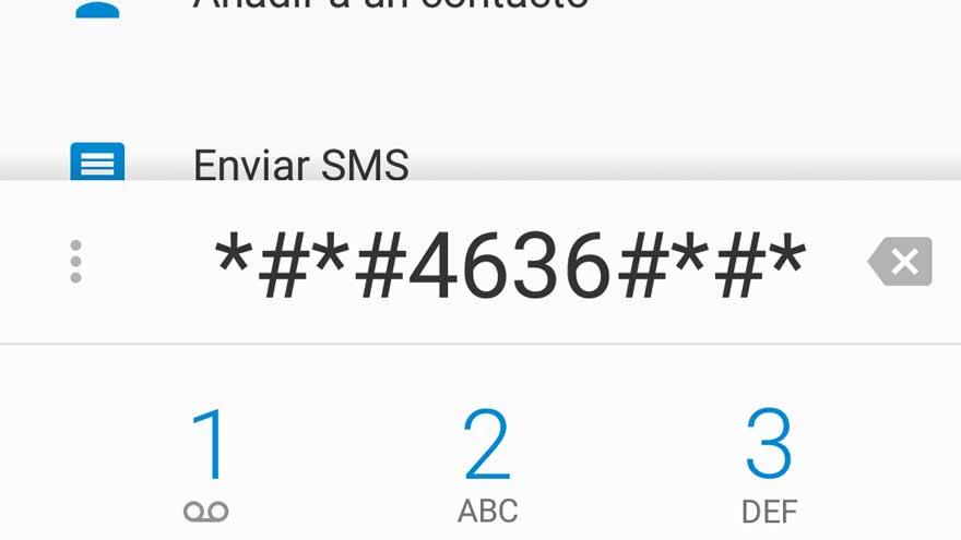 El código *#*#4636#*#* en un móvil Android