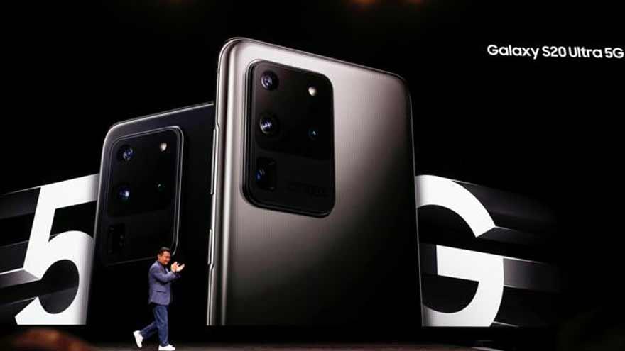 Los Samsung Galaxy S20 poseen capacidad de conectarse a redes 5G, aún no disponibles en la Argentina.