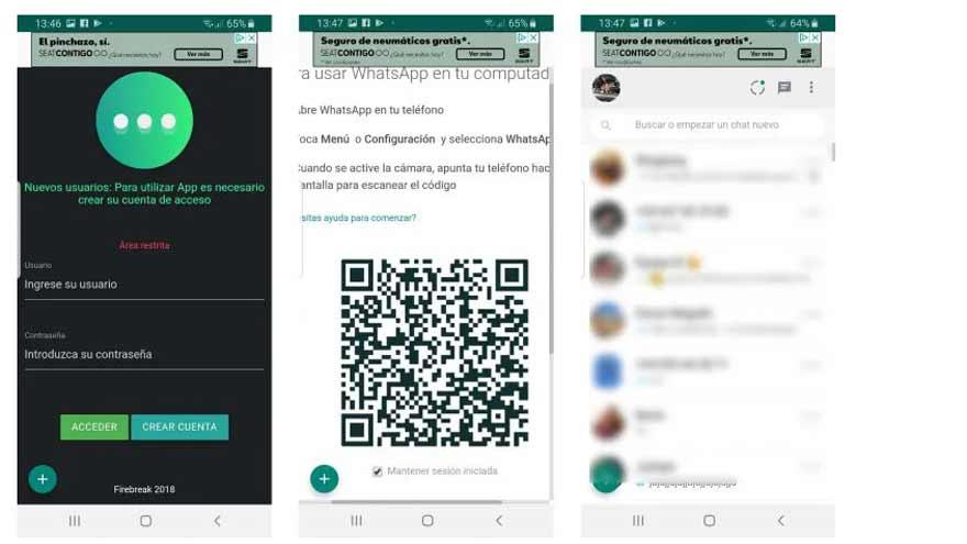 Así es la interfaz de WhatsClone.