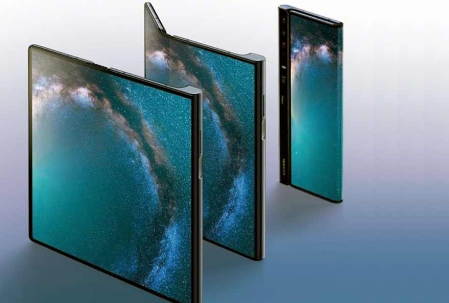 El Huawei Mate X es una única pantalla plegable.