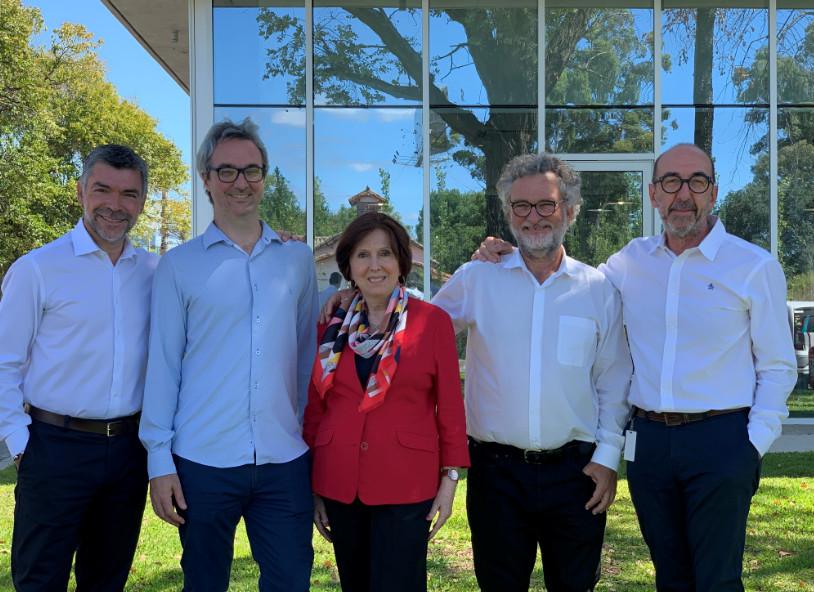 Eduardo Cioppi, Lucas , Analía Pesce, Mauricio Seigelchifer y Esteban Corley