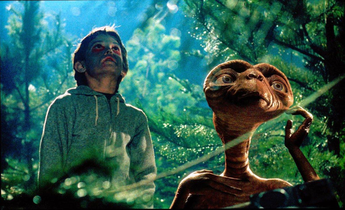 ET, de 1982, es uno de los clásicos que se revive una y otra vez en las televisiones argentinas
