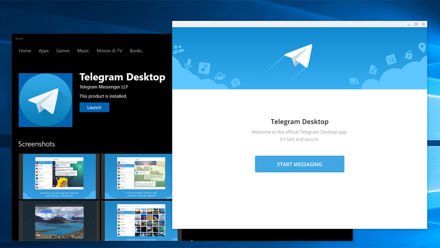 Telegram ofrece versiones para computadoras.