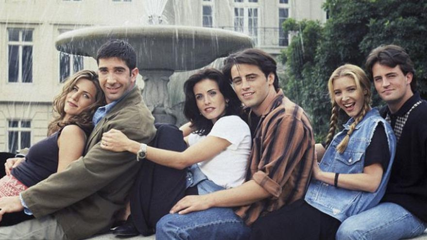 La famosa fuente de la apertura de Friends