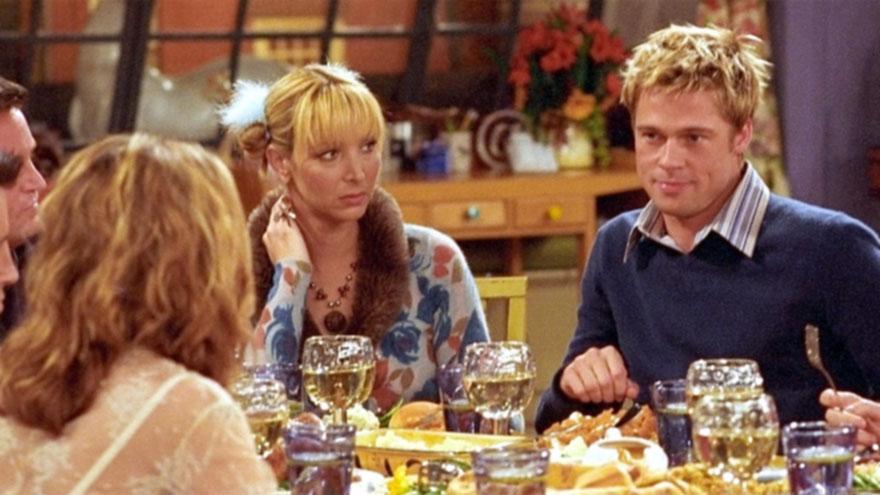 Brad Pitt fue uno de los invitados especiales de Friends