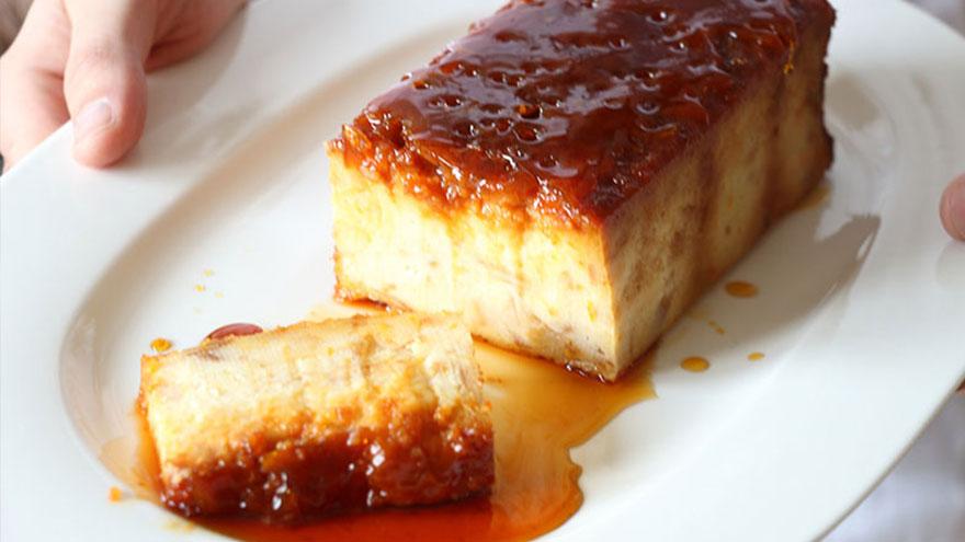 Un clásico argentino, el budín de pan