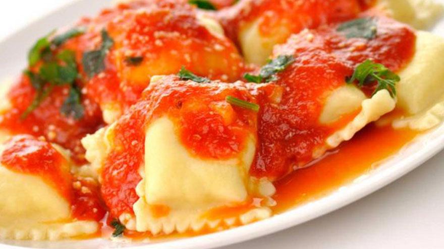 Los ravioles muestran la clara influencia italiana