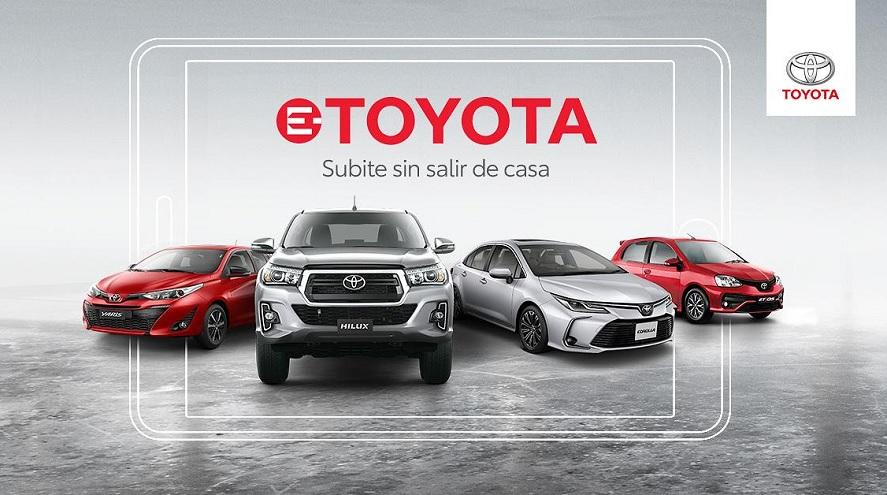 Toyota invita a comprar sus autos vía online.